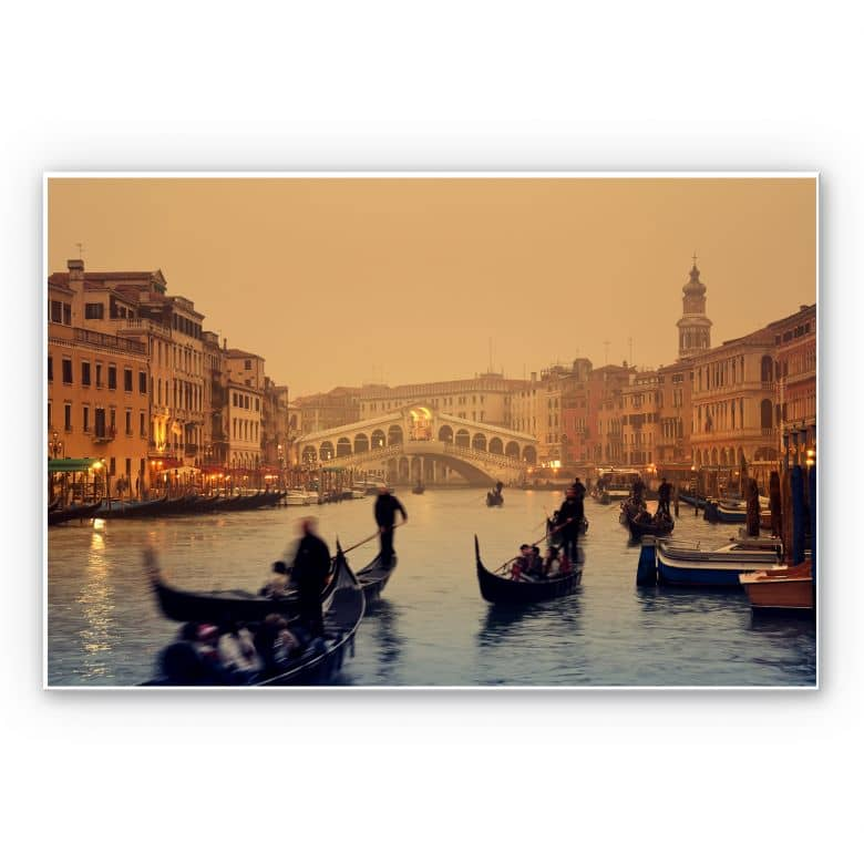 Wandbild Sunset in Venice