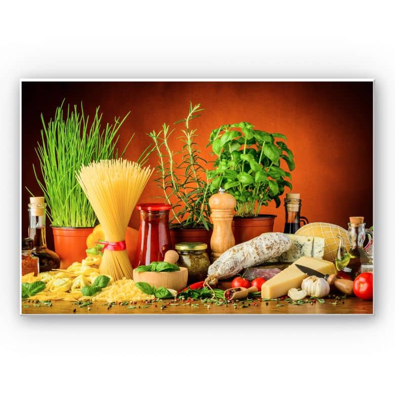 Wandbild Italienisch Kochen