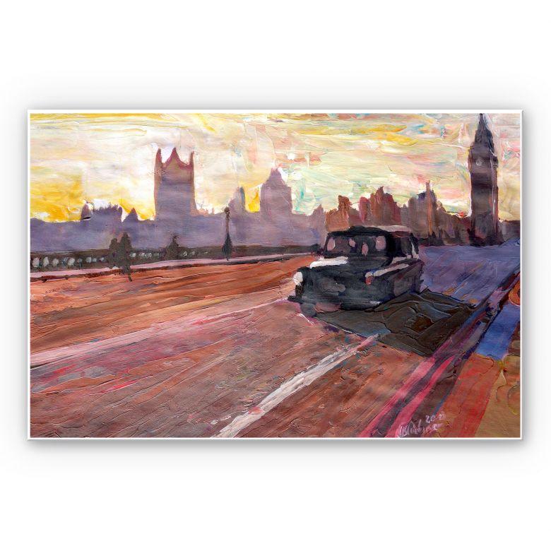 Wandbild Bleichner - London in der Abenddämmerung