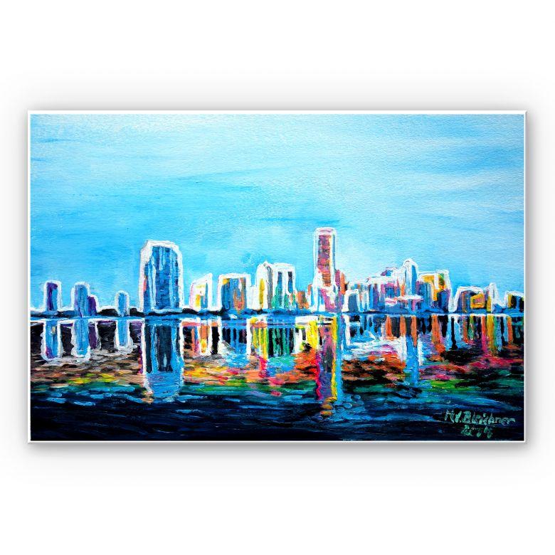 Wandbild Bleichner - Miami im Neonschimmer