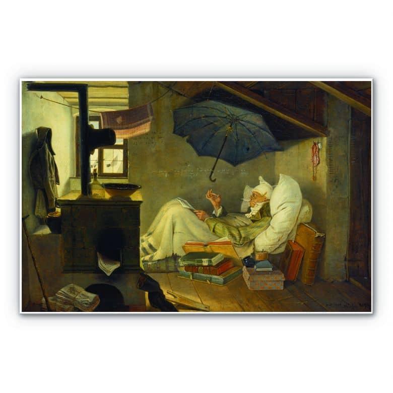 Tableau Forex - Spitzweg - Le pauvre poète