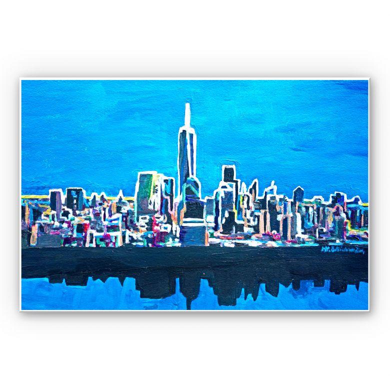Wandbild Bleichner - New York City im Neonschimmer