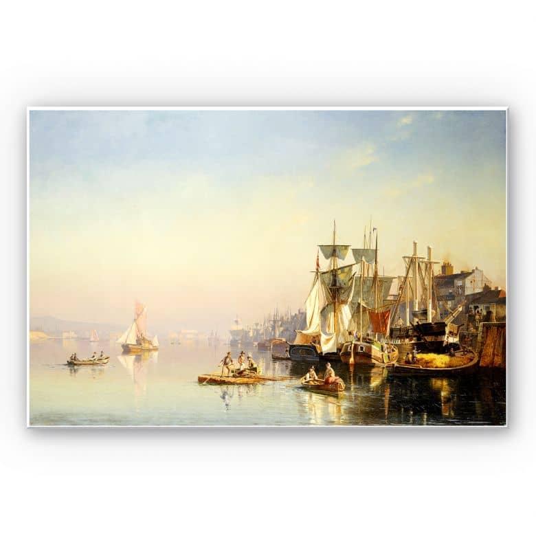 Wandbild Neumann - Fischerboote und Kähne auf der Themse bei Greenwich