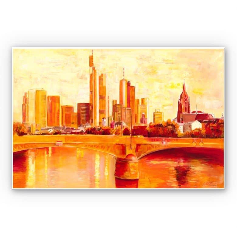 Wandbild Schüßler - Skyline Frankfurt