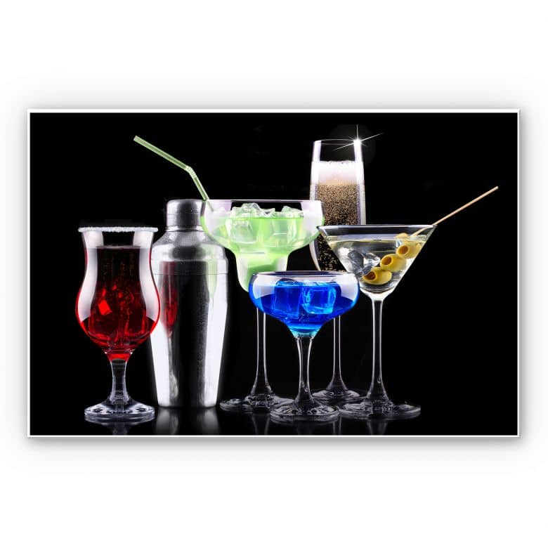 Wandbild Girly Cocktails
