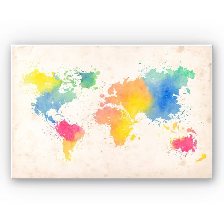 Forex print World map - Watercolor