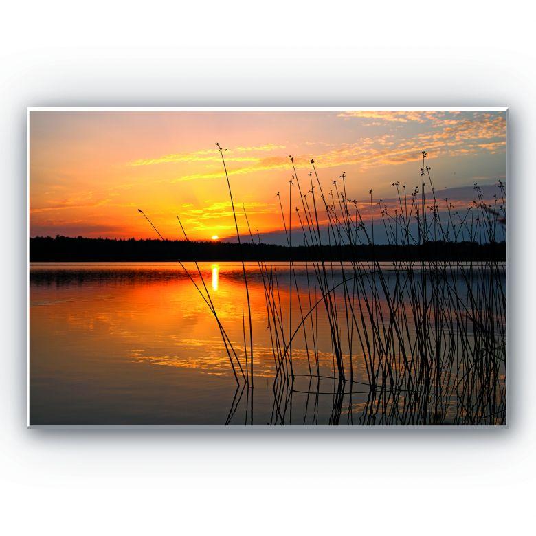 Tableau Forex -Coucher de soleil sur le lac