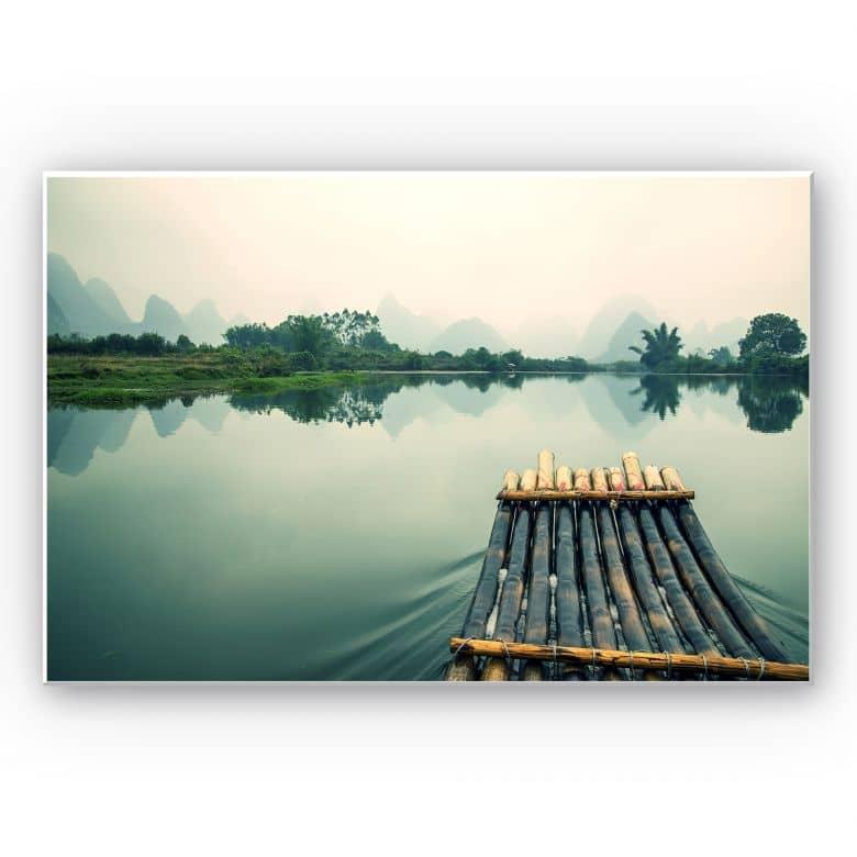 Wandbild Floßfahrt in China