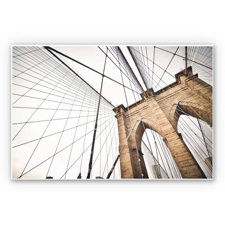 Wandbild Brooklyn Bridge - Perspektive 02