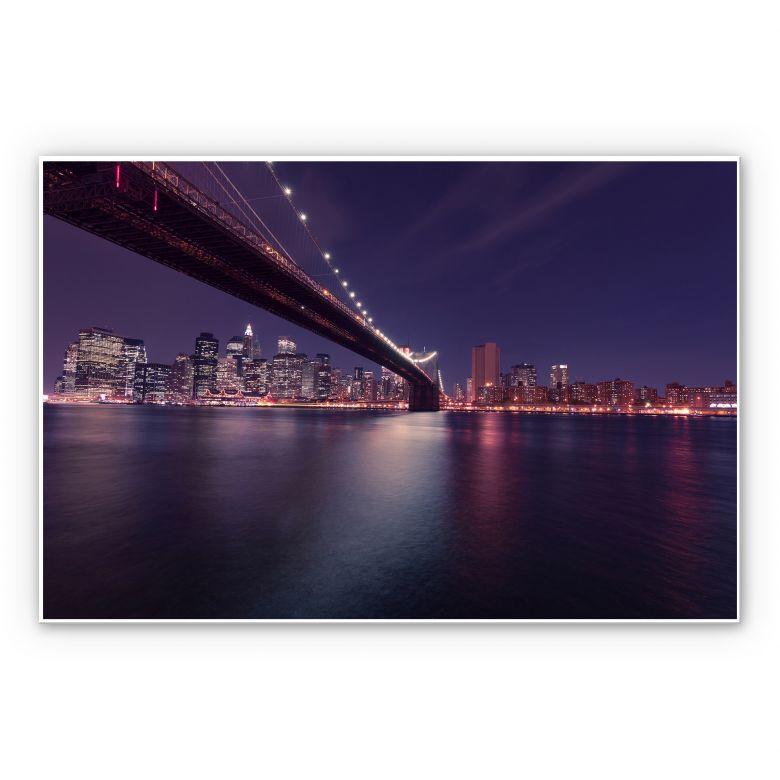 Wandbild Lights in New York City
