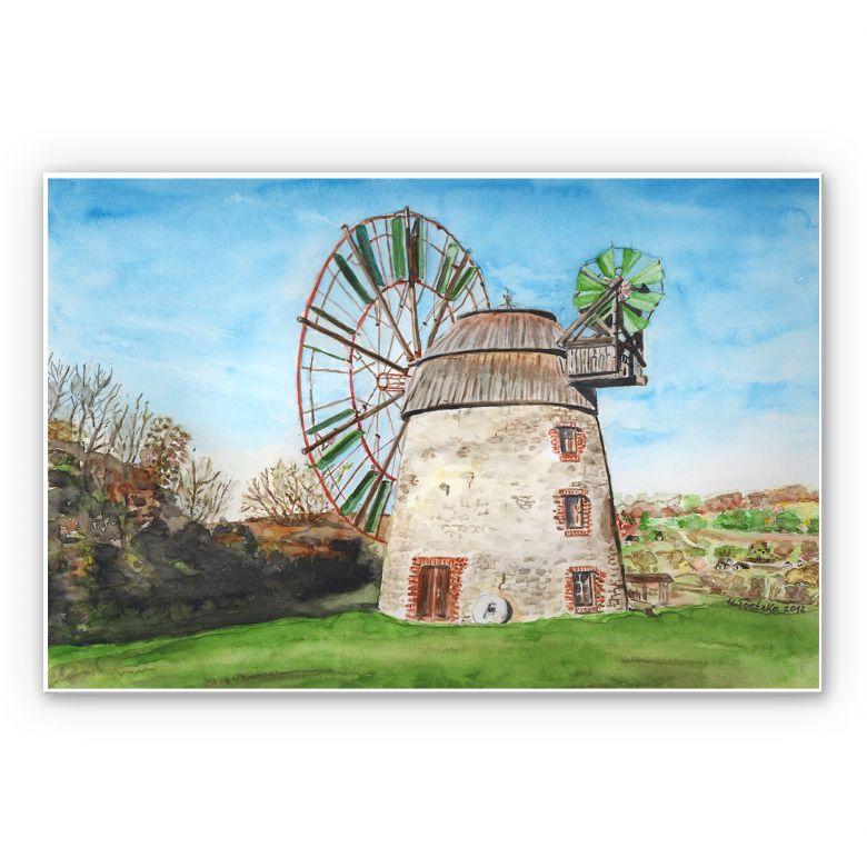 Wandbild Toetzke - Holländerwindmühle