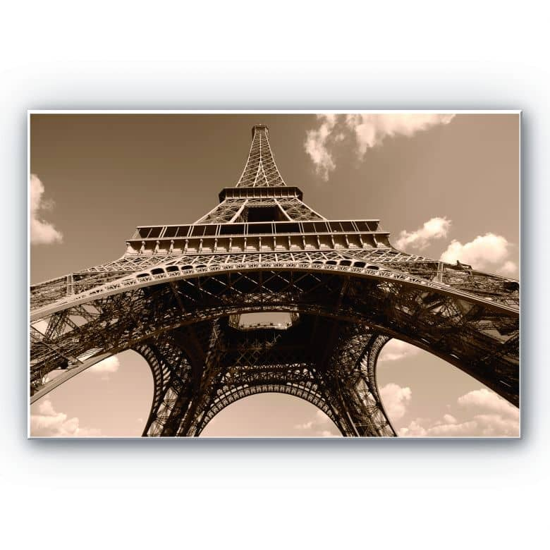 Wandbild Eiffelturm Perspektive