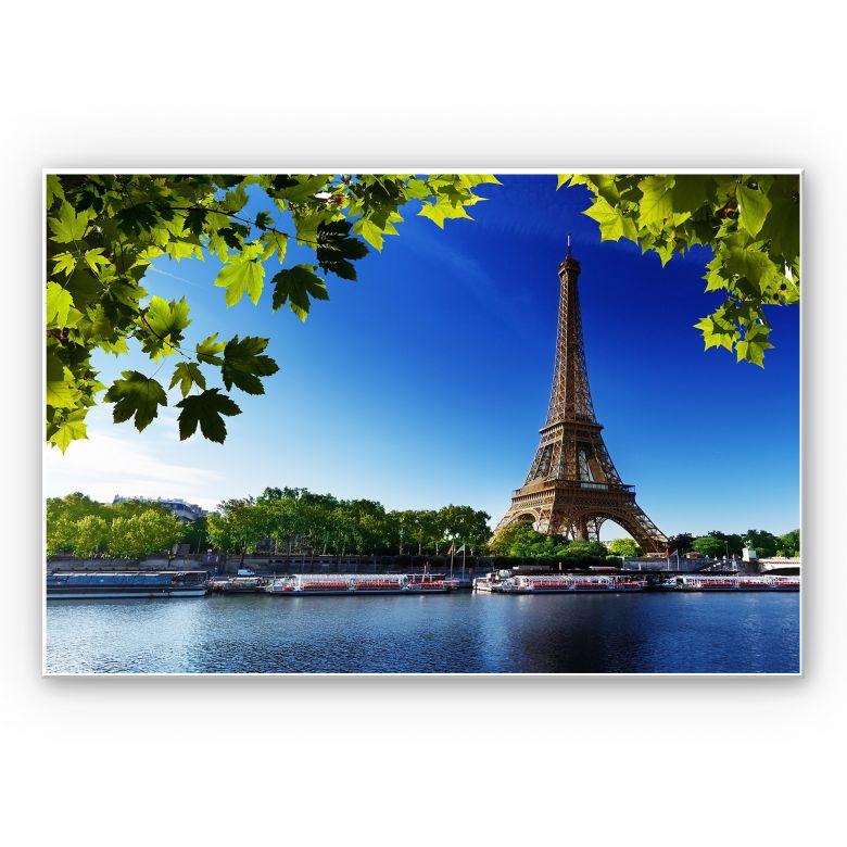 Wandbild Summer in Paris