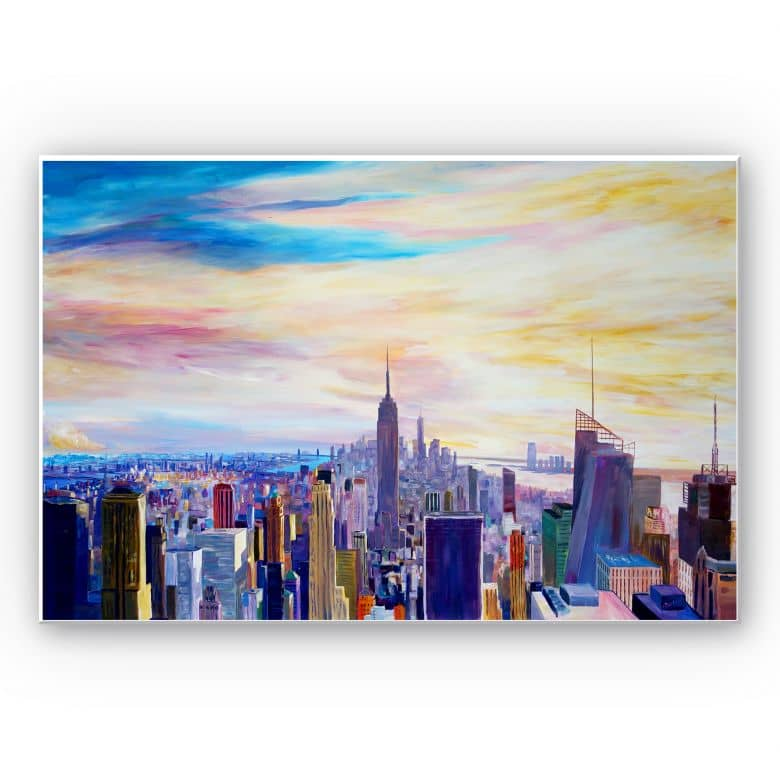 Wandbild Bleichner - Blick über New York City