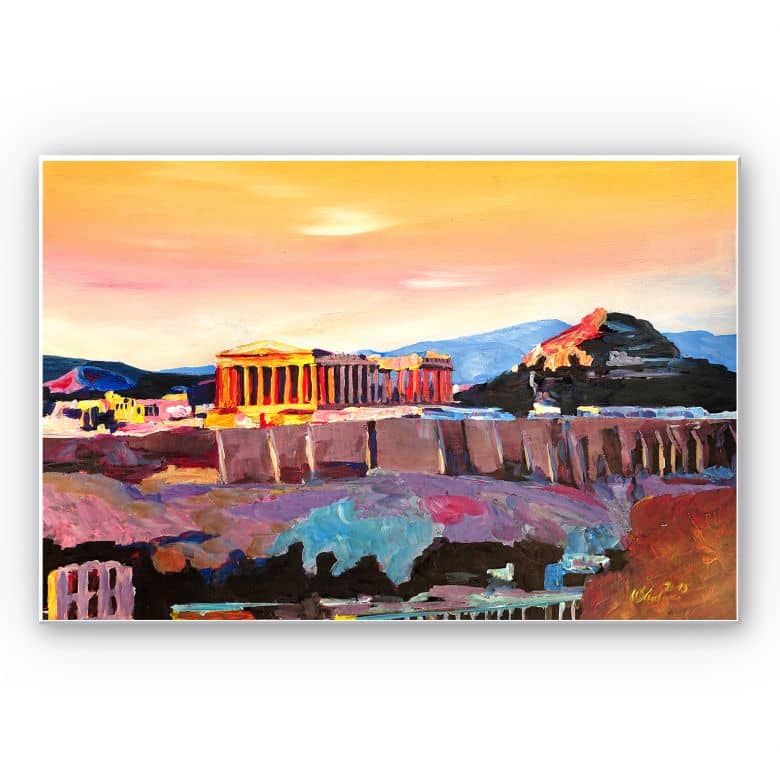 Wandbild Bleichner - Akropolis in Athen