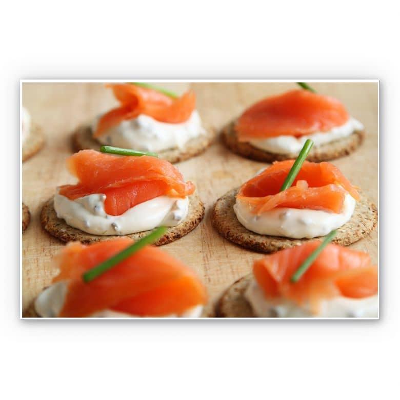 Wandbild Salmon Appetizer