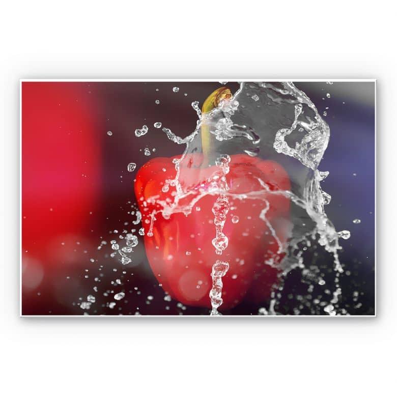 Wandbild Frische Paprika