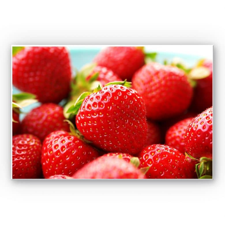 Wandbild Erdbeeren aus dem Garten