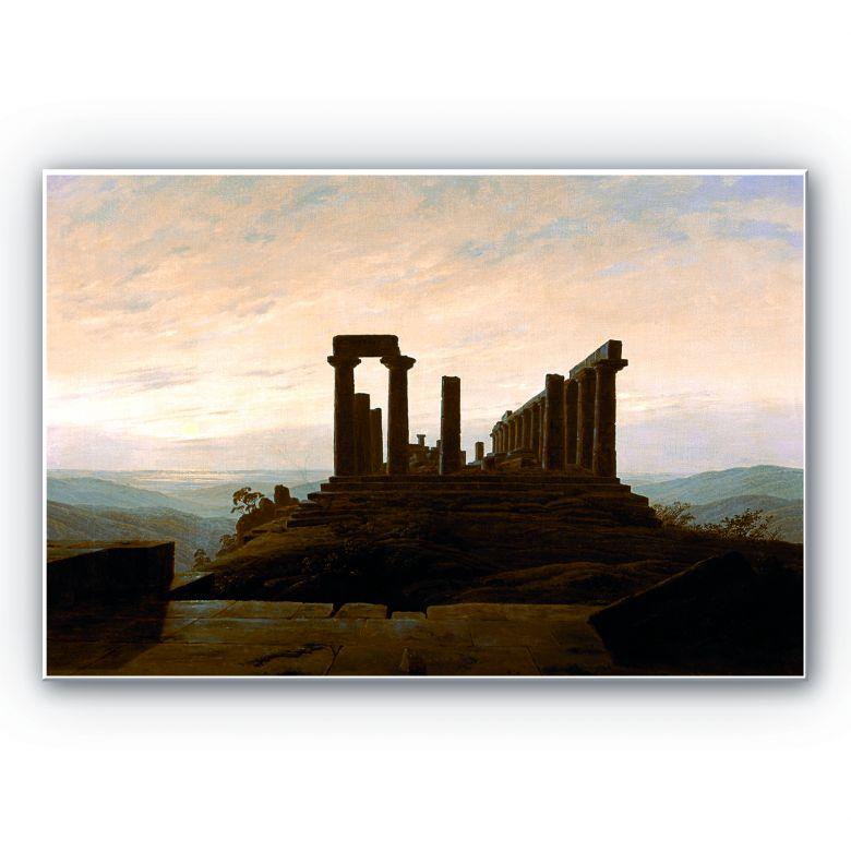 Wandbild Friedrich - Der Junotempel in Agrigent