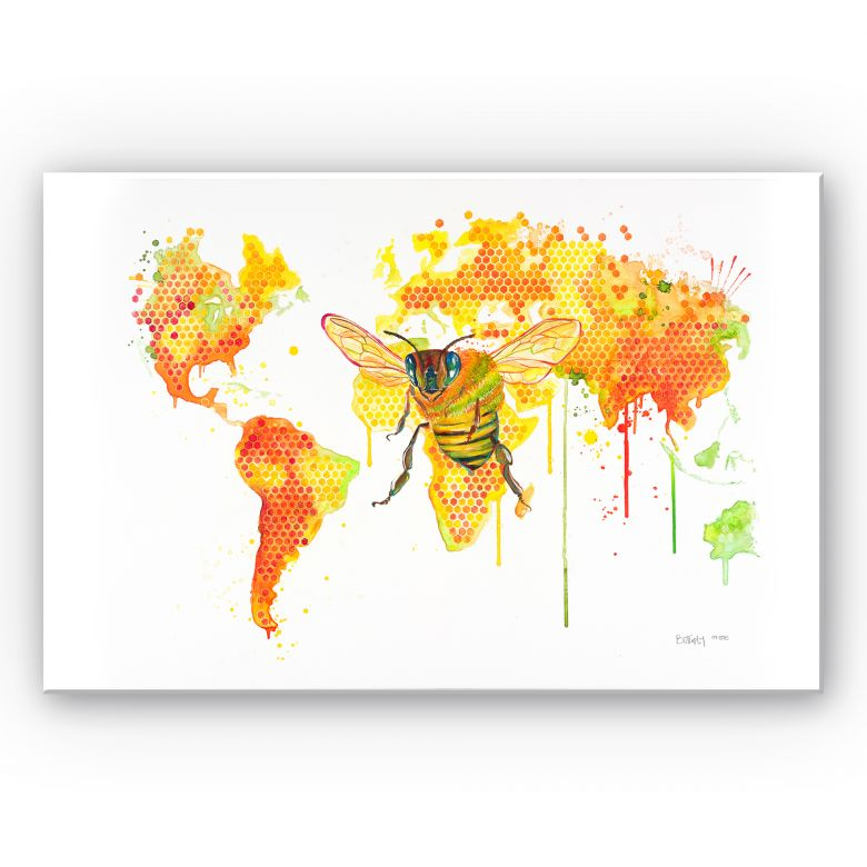 Wandbild Buttafly - Bees World