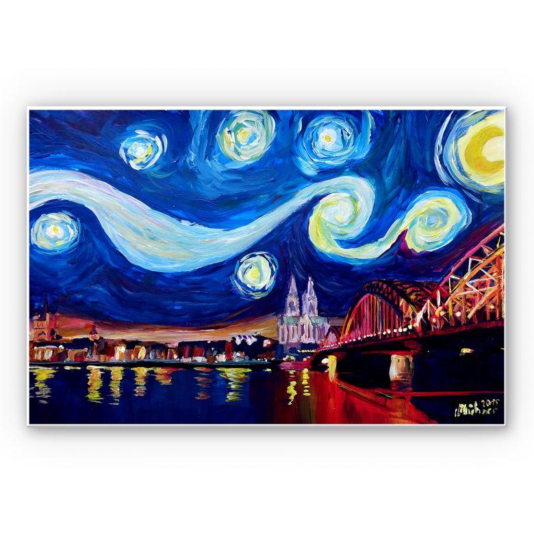Wandbild Bleichner - Köln bei Nacht