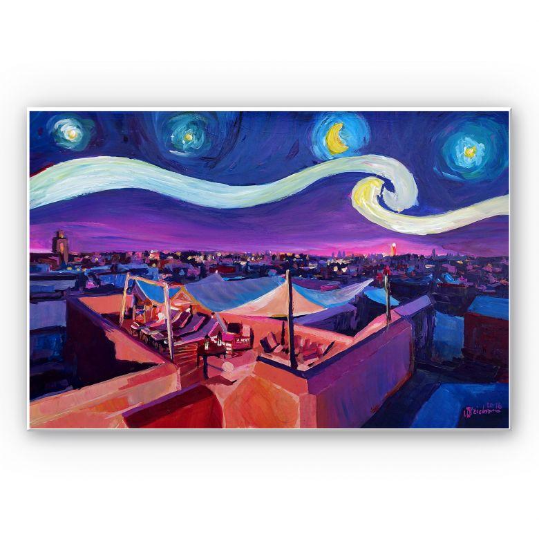 Wandbild Bleichner - Marrakesch bei Nacht