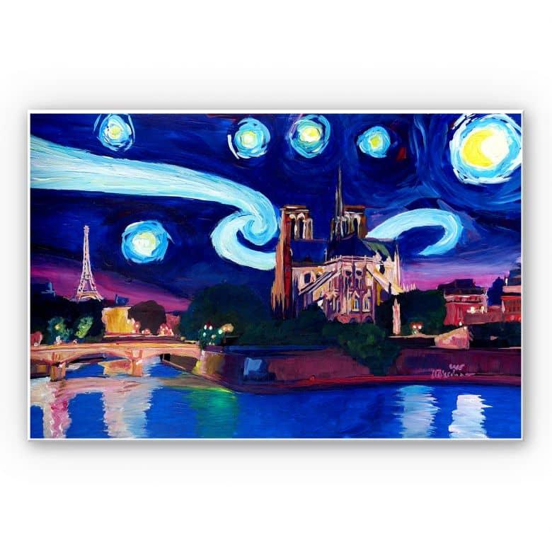Wandbild Bleichner - Paris bei Nacht