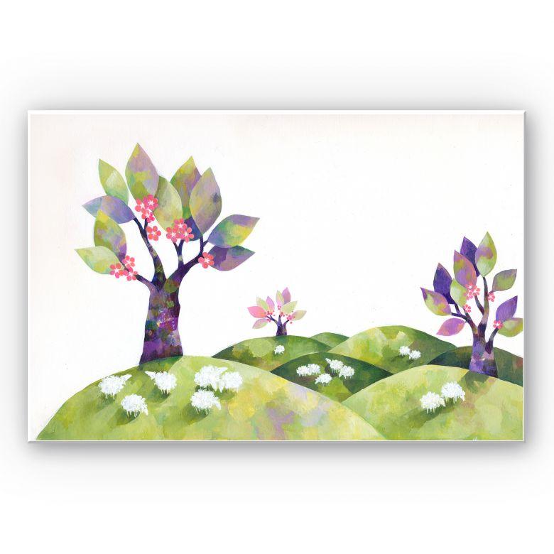 Wandbild Blanz - Die Schafswiese