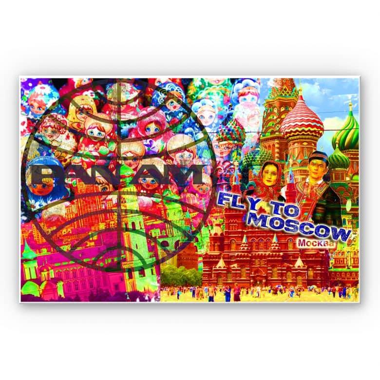 Wandbild PAN AM - Moskau
