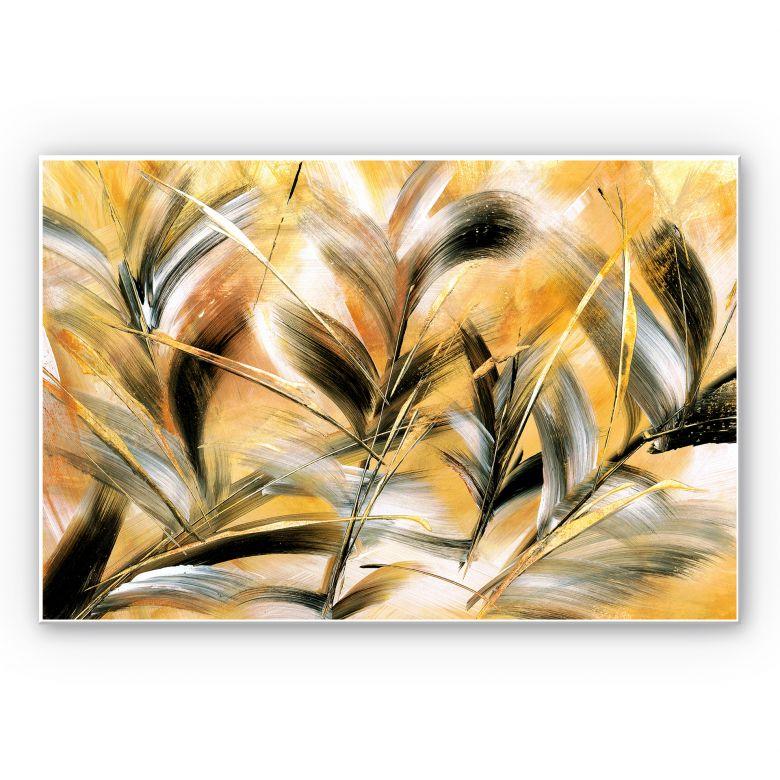 Wandbild Niksic - Gräser