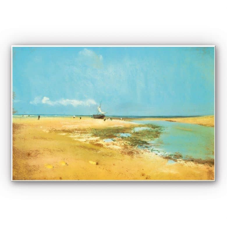 Wandbild Degas - Strand bei Ebbe