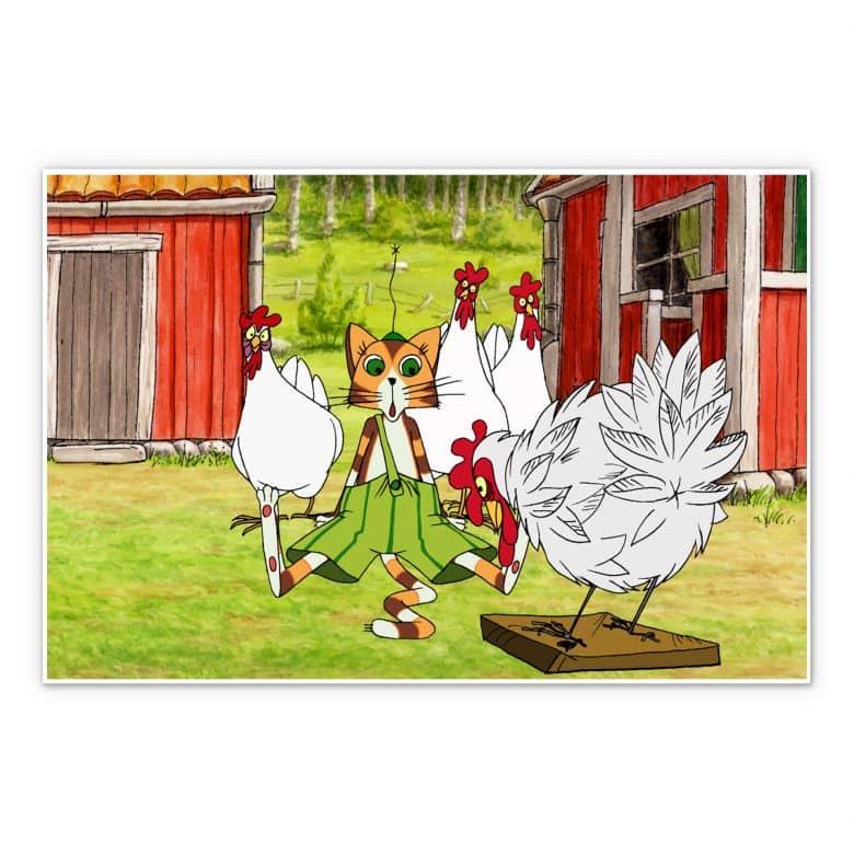 Wandbild Pettersson und Findus - Hühnergeschichten