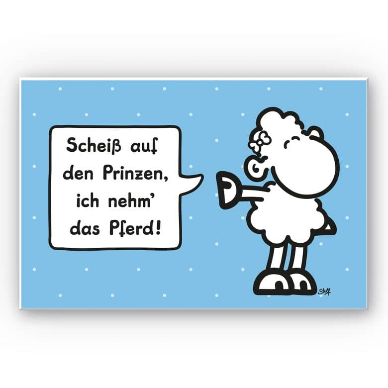 Wandbild sheepworld Worthelden Prinz