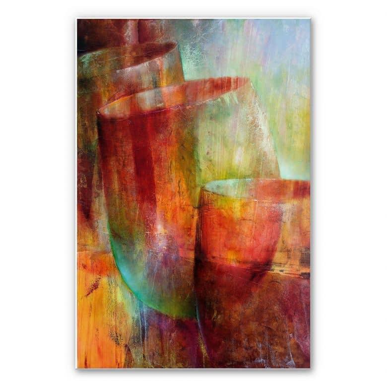 Wandbild Schmucker - Zwei Gläser