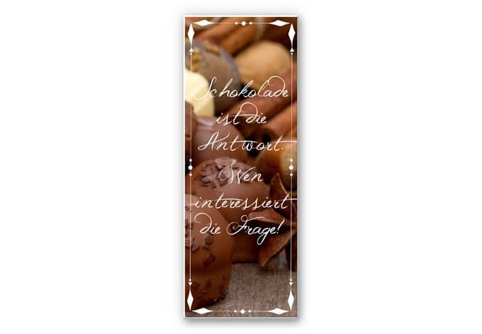 Wandbild Schokolade ist die Antwort… - Panorama