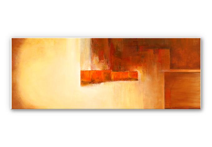 Wandbild Schüßler - Orange-Brown Balance
