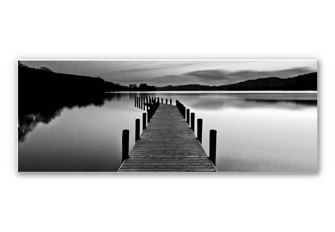 Forex print Sea panorama - Black/White