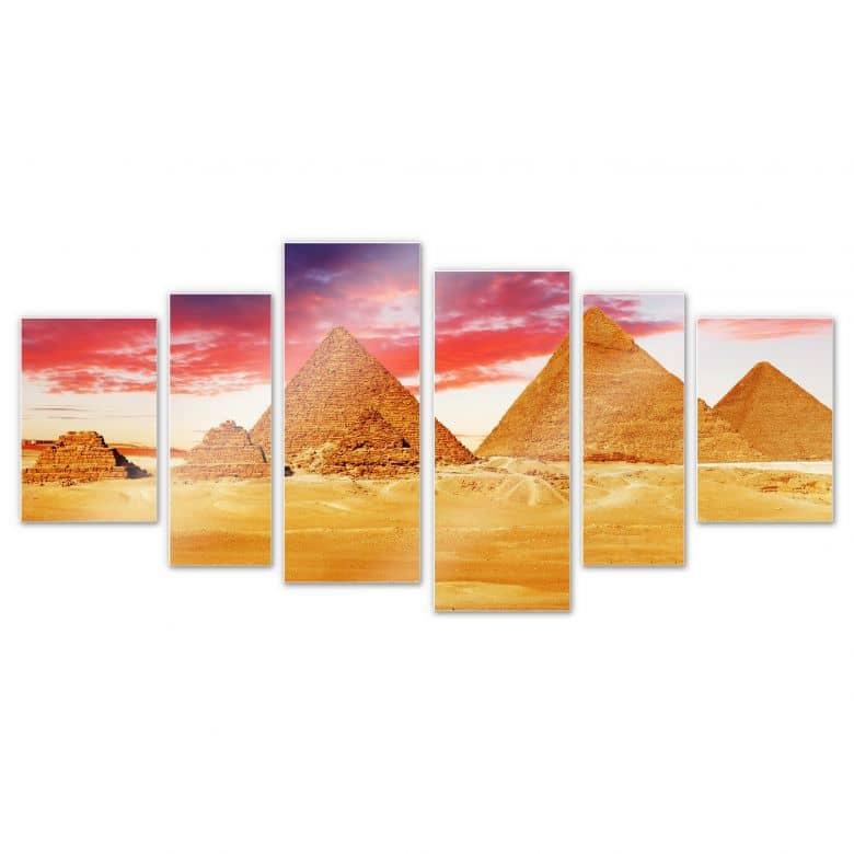 Wandbild Die Pyramiden von Gizeh (6-teilig)