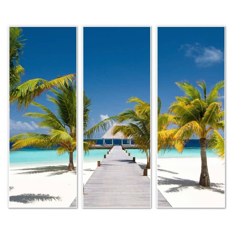 Wandbild Der Weg ins Paradies (3-teilig)