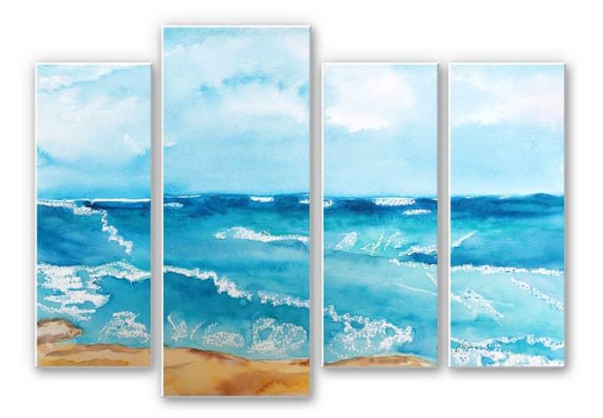 Wandbild Toetzke - Meeresrausch (4-teilig)