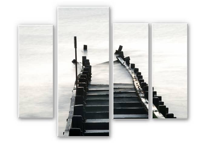 Wandbild Way to nowhere 02 (4-teilig)