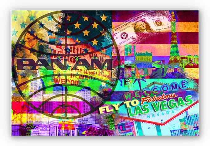 Wandbild PAN AM - Las Vegas