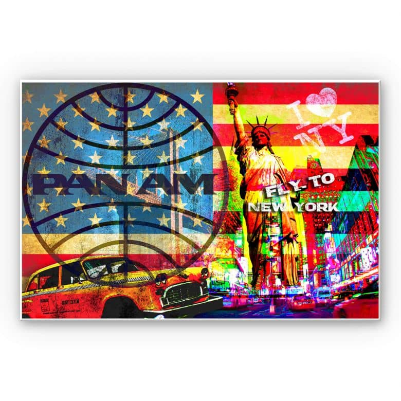 Wandbild PAN AM - New York