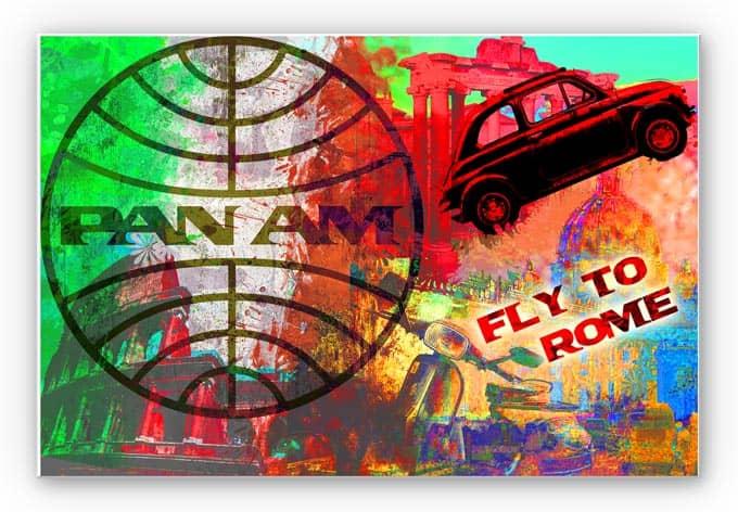 Wandbild PAN AM - Rom