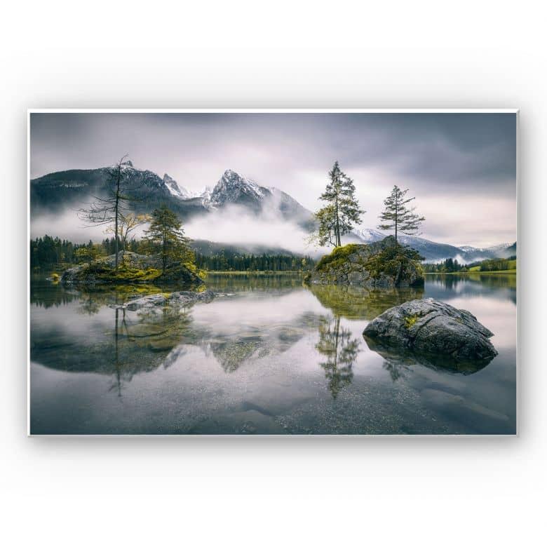 Wandbild Wiemer - Nebel über Hintersee