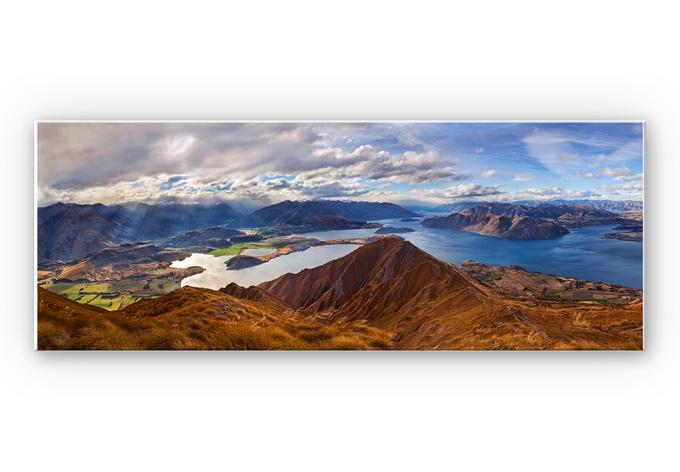 Wandbild Yan  - Aussicht vom Roys Peak - Panorama