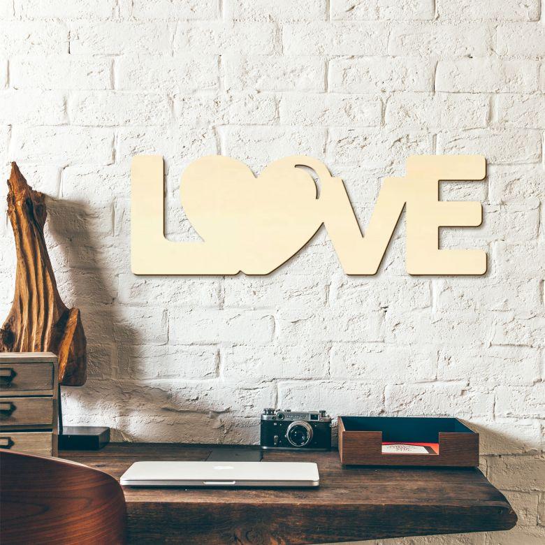 Scritta in legno - Love