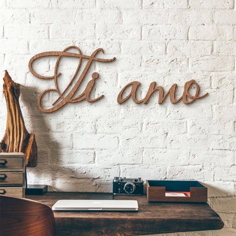 Scritta in mogano - Ti Amo