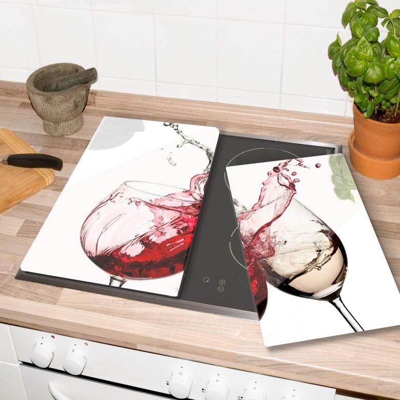 Piastre copri-fornelli –Bicchieri di vino