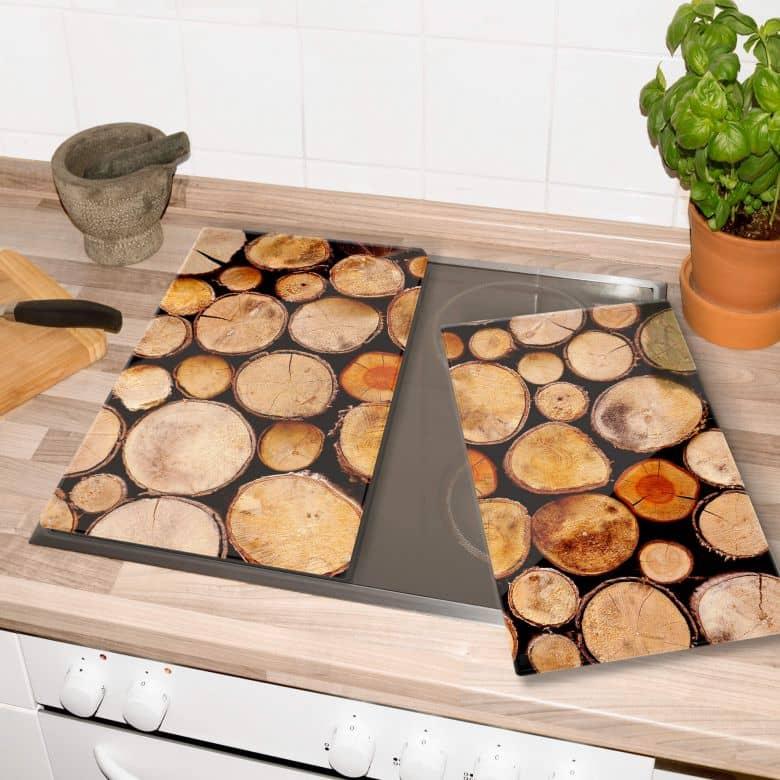 Herdabdeckplatte Wood Slices
